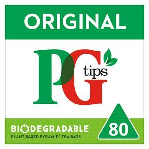Pg Tips Pyramid 80 Tea Bags