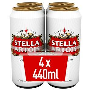 Stella Artois Premium Lager 4x440ml