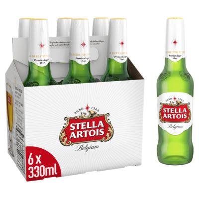 Stella Artois Premium Lager Bottles 6X330ml