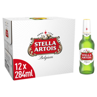 Stella Artois Premium Lager Bottles 12x284ml