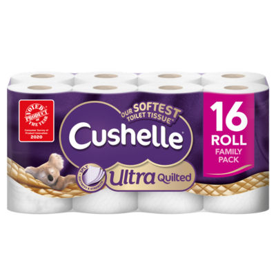 Cushelle Ultra Quilted Toilet Tissue 16 Rolls