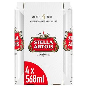 Stella Artois Premium Lager 4x568ml