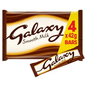 Galaxy Smooth Milk Chocolate Bars Multipack 4 x 42g