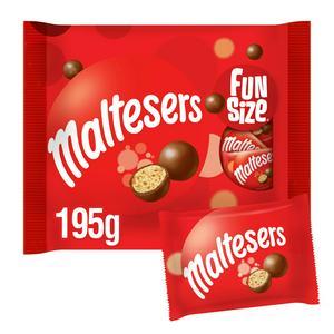 Maltesers Fairtrade Chocolate Fun Size 195g