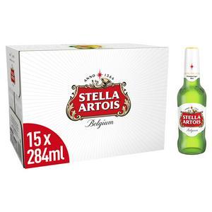 Stella Artois Premium Lager Bottles 15x284ml