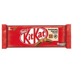 Kit Kat 4 Finger Milk Chocolate Biscuit 4 Pack