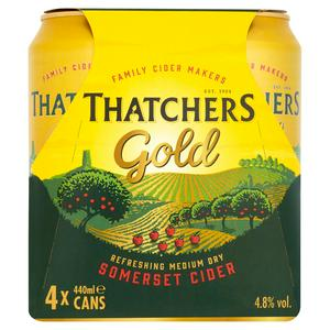 Thatchers Gold Cider 4x500ml Can