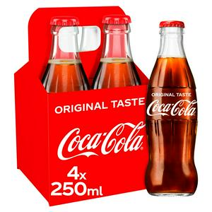 Coca-Cola Classic Bottles 4 x 250ml