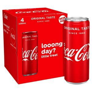 Coca-Cola Original Taste 4x250ml