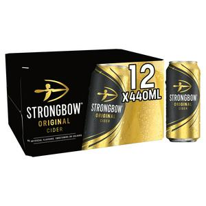 Strongbow Original Cider Can 12x440ml
