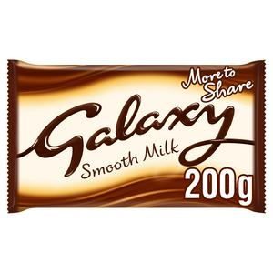 Galaxy Smooth Milk Chocolate Block 200g